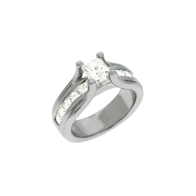 S. Kashi & Sons Bridal White Gold Enagagement Ring