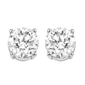 Diamond Stud Earrings in 14K White Gold (1 1/2 ct. tw.) I2/I3 - H/K