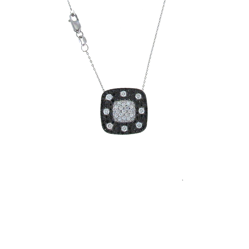 Roberto Coin 18Kt Gold Pendant With Black And White Diamonds