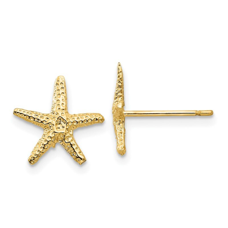 Quality Gold 14k Starfish Post Earrings