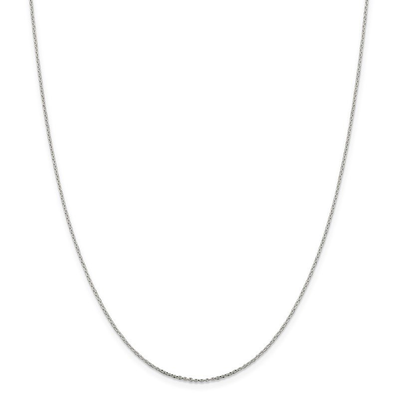 JC Sipe Essentials Sterling Silver .95mm Diamond-cut Forzantina Cable Chain