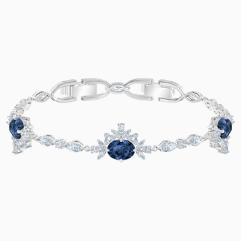 Palace Bracelet, White, Rhodium plated