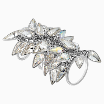 Polar Bestiary Cocktail Ring, Multi-colored, Rhodium plated