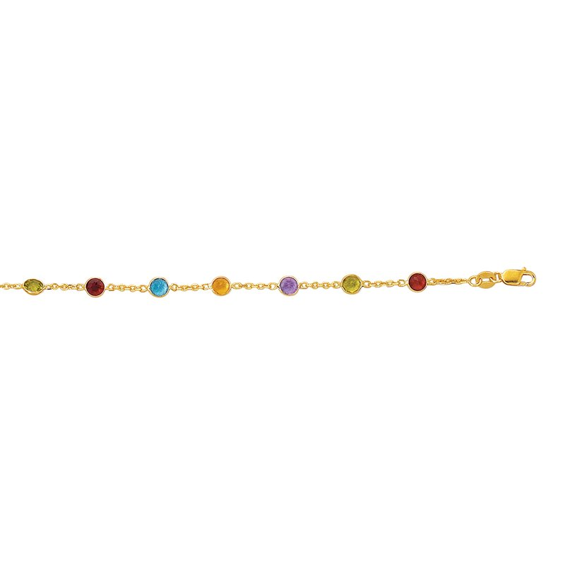 Royal Chain 14K Gold Semi-Precious Anklet