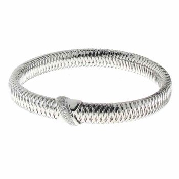 #25965 Of 18K White Gold Bangle With Diamond X