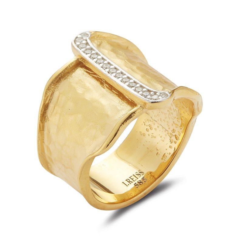I. Reiss 14K-Y CUFF RING, 0.10CT