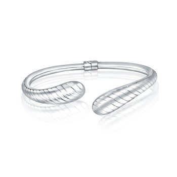 Striped Open Bangle