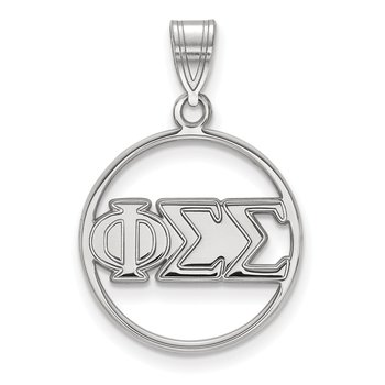 Sterling Silver Phi Sigma Sigma Greek Life Pendant