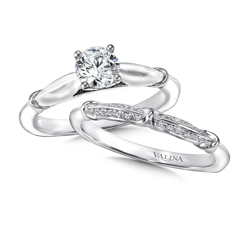 Valina Bridals Solitaire mounting .04 tw., 5/8 ct. round center.