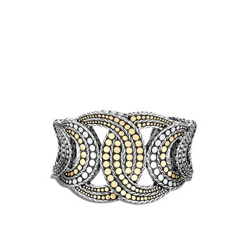 Dot 43MM Cuff in Silver and 18K Gold