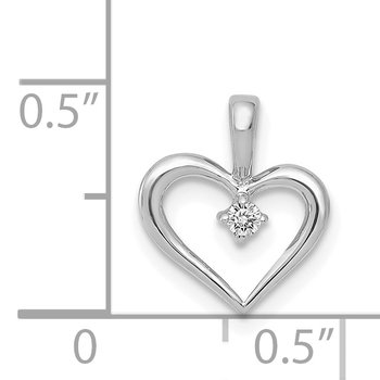 14k Rose Gold AA .02ct. Diamond Heart Pendant