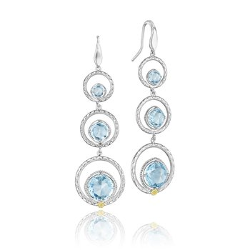 Skipping Stones Earrings featuring Sky Blue Topaz