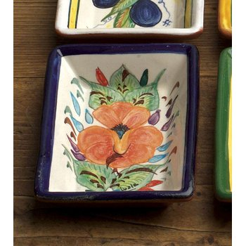 Rect. Dipping Plate, Flower