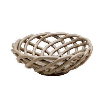 Medium Round Basket, Gray