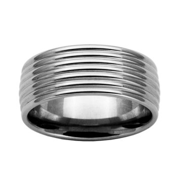 Stainless Steel Basic Men's Ring Size 11