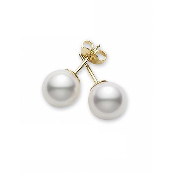 Akoya Pearl Studs 7-7.5mm, A+ Quality. Available at our Halifax Store.