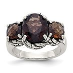 Shey Couture Sterling Silver Smoky Quartz Ring