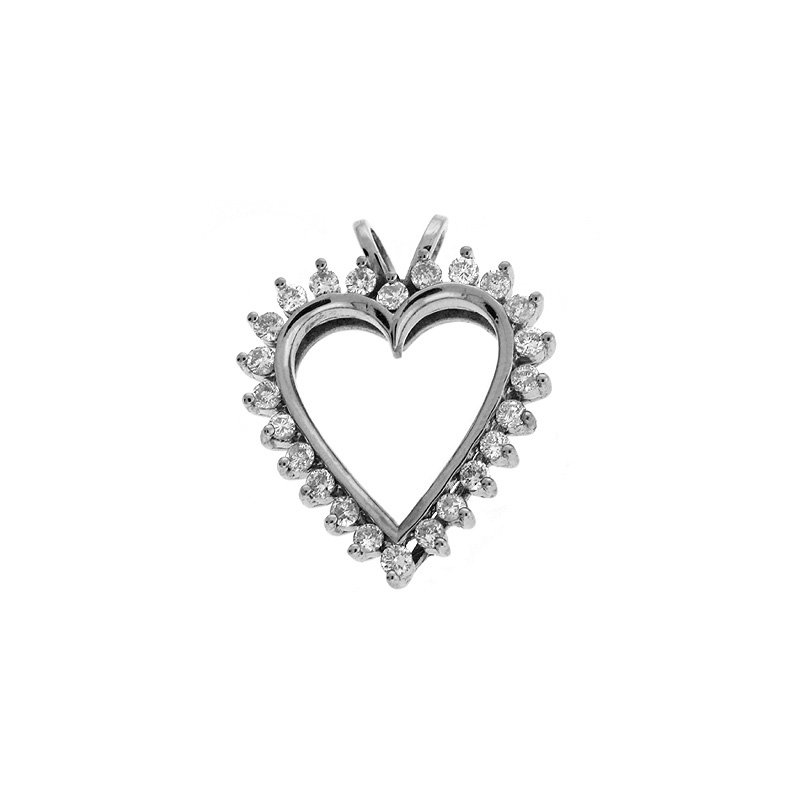 S. Kashi  & Sons Diamond Heart White Gold