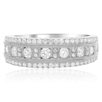 Round Cut Milgrain Diamond Band