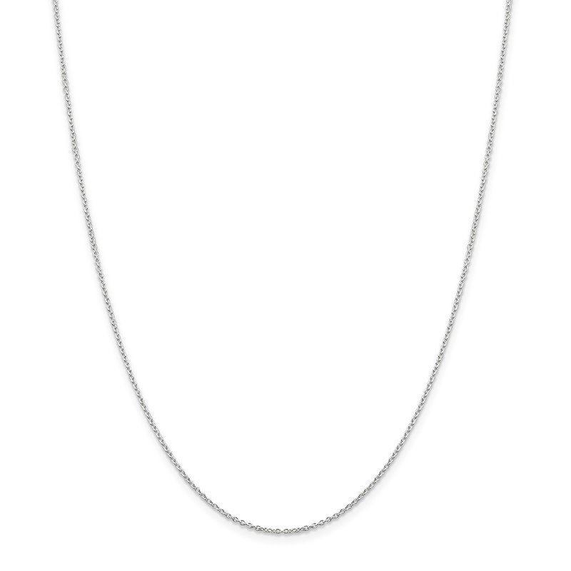 Quality Gold Sterling Silver Rhodium-plated 1.25mm Cable Chain
