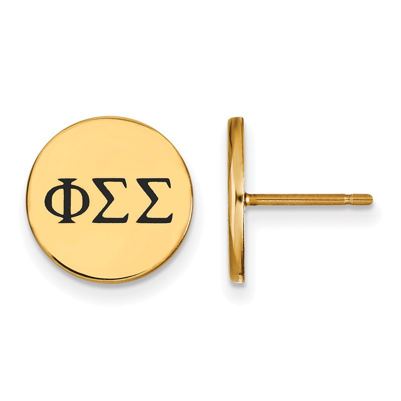 Greek Life Gold-Plated Sterling Silver Phi Sigma Sigma Greek Life Earrings