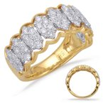 Briana Yellow & White Gold Diamond Fashion Ring