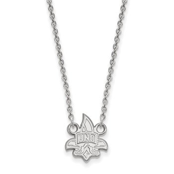 Sterling Silver University of New Orleans NCAA Necklace