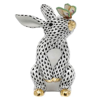 Bunny with Butterfly - Black