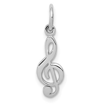 14k White Gold Treble Clef Charm