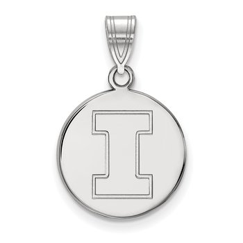 Gold University of Illinois NCAA Pendant