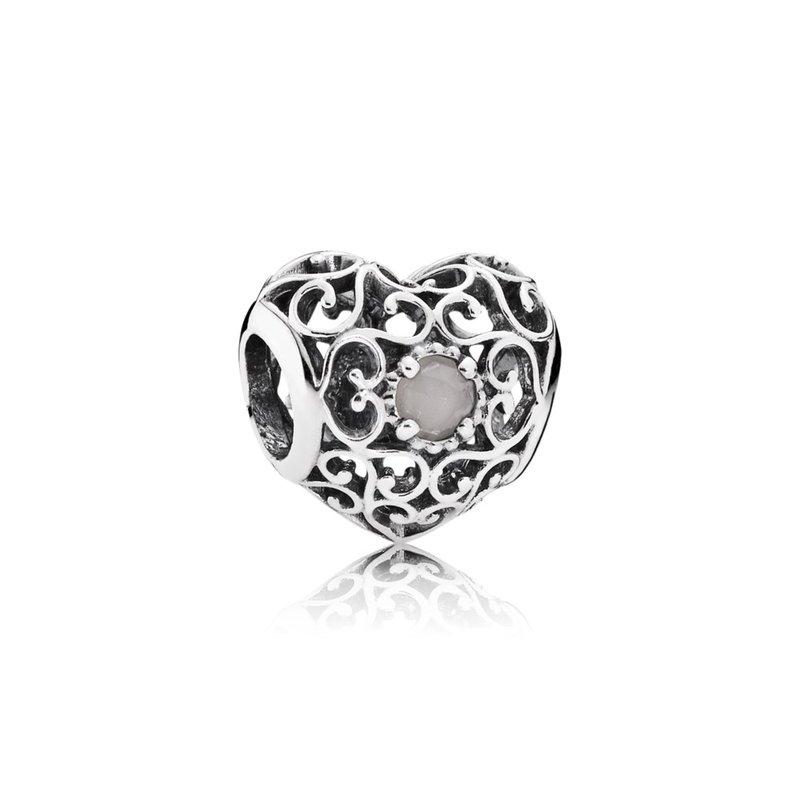 4b4fd9b6b Taylor's Jewellery Shop: PANDORA June Signature Heart, Grey Moonstone