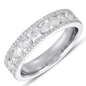 White Gold Pave Diamond Ring