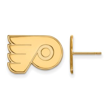 Gold Philadelphia Flyers NHL Earrings