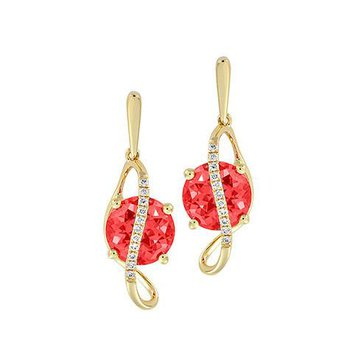 Padparadscha Earrings-CE4250YPD