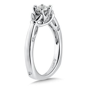 6-Prong Center Solitaire Engagement Ring in 14K White Gold (5/8ct. tw.)