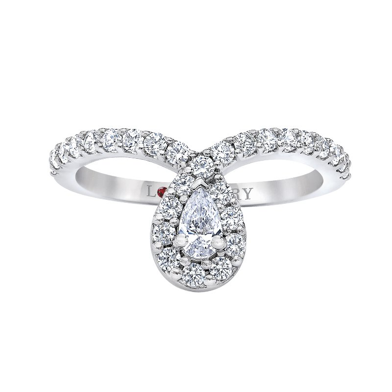 Love Story Diamonds Contemporary Pear Engagement Ring by Love Story