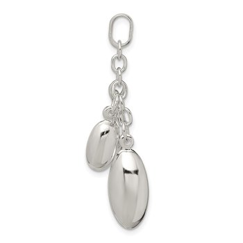Sterling Silver Oval Dangle Beads Pendant