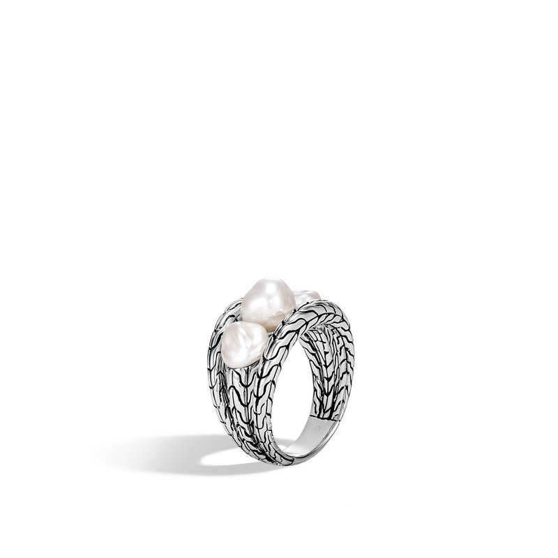 JOHN HARDY Classic Chain Ring in Silver with Gemstone