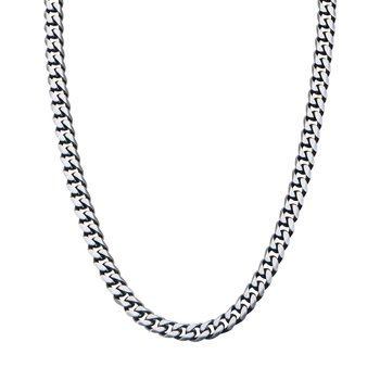 8.7 Gun Metal Brushed Curb Chain