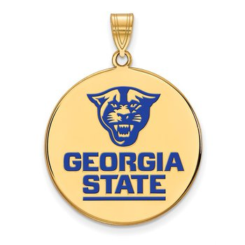 Gold-Plated Sterling Silver Georgia State University NCAA Pendant