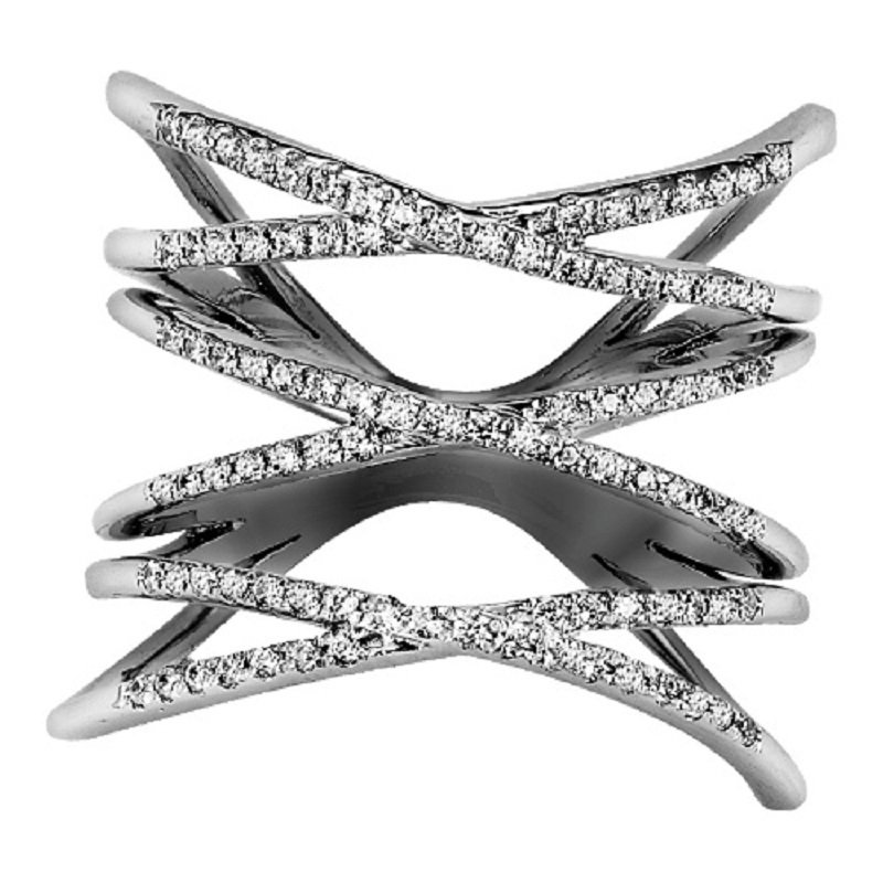 Mixables Silver Diamond Ring