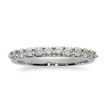 14K White Gold 1 ct Diamond Band Ring