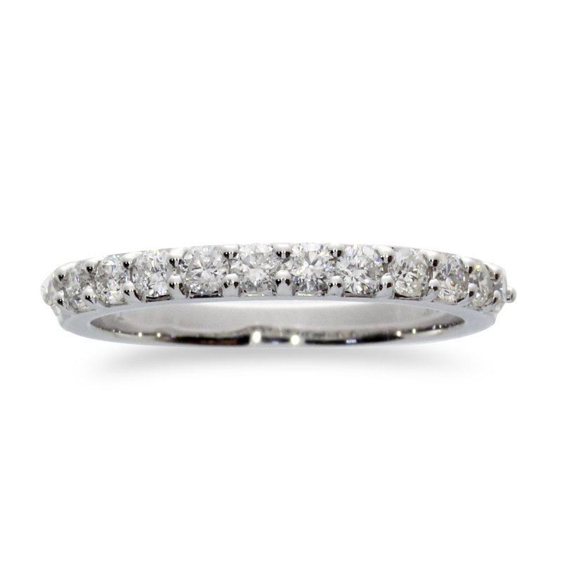 Color Merchants 14K White Gold 1 ct Diamond Band Ring