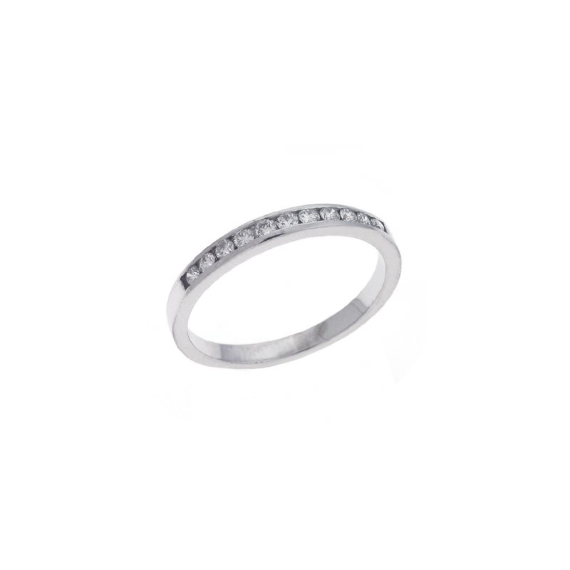 S. Kashi & Sons Bridal Channel Set White Gold Band