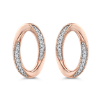 Essentials 10K Rose Gold 1/10 Ct Diamond Fashion Earrings