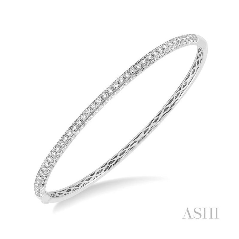 Gemstone Collection diamond stackable bangle