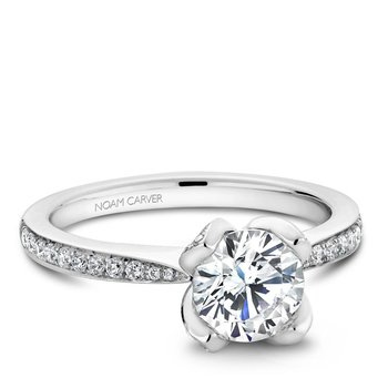 Noam Carver Floral Engagement Ring B019-01A