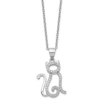 Cheryl M SS CZ Cat Necklace