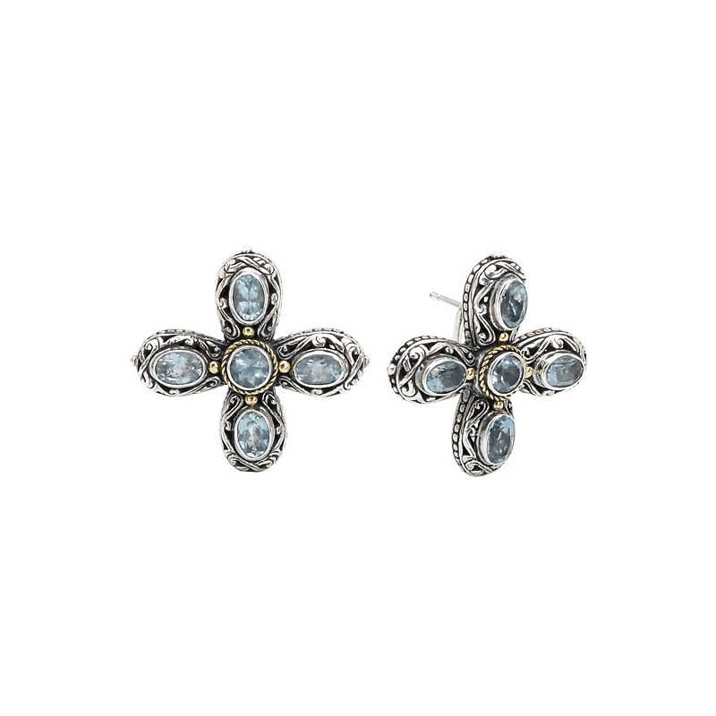 Eleganza Ladies Fashion Cross Earrings