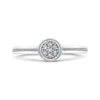10K White Gold .05 Ct Diamond Fashion Ring